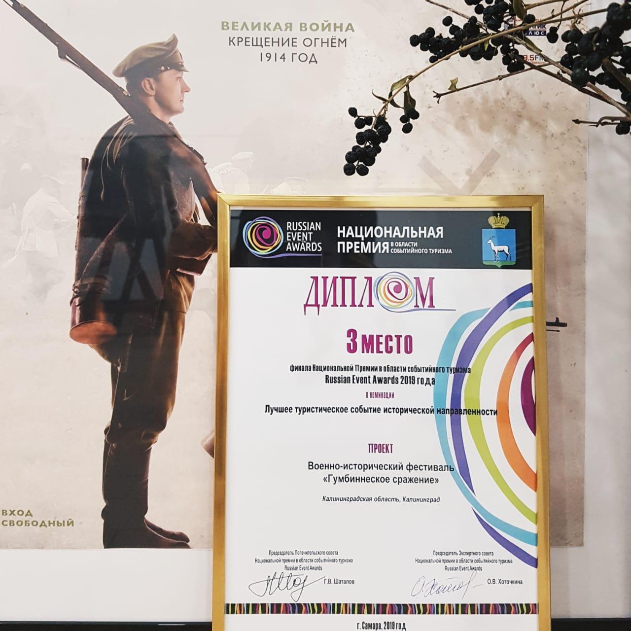 Проекты Калининградской области вошли в число победителей Russian Event Awards 2019